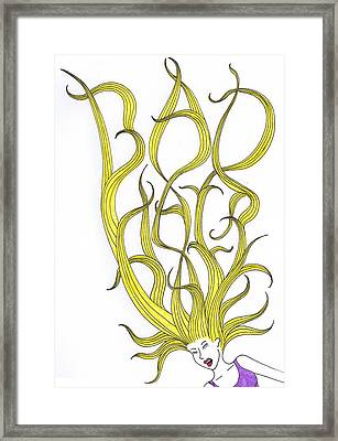 Bad Hair Day Framed Print by Christy Beckwith