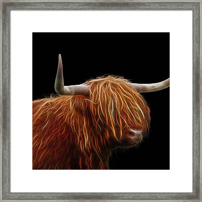 Bad Hair Day - Highland Cow Square Framed Print by Gill Billington