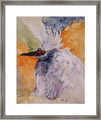 Framed Print featuring the painting Bad Hair Day by Lil Taylor