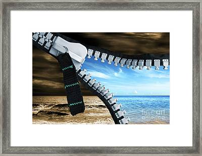 Bad Into Good Framed Print