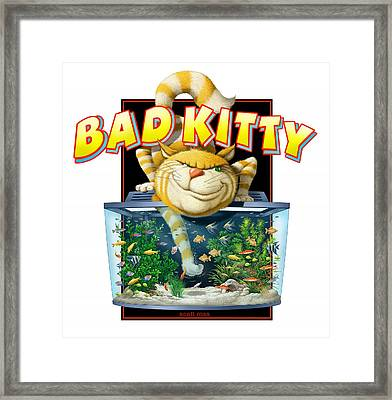 Bad Kitty Framed Print