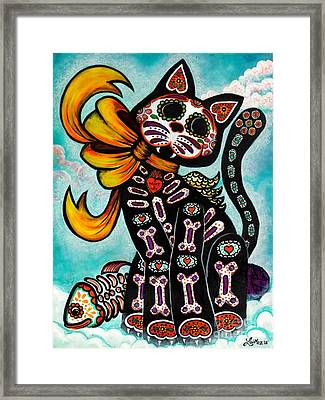 Bad Luck...my Tail  Framed Print by Laura  Gomez