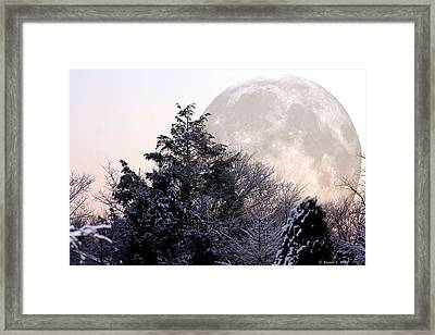 Bad Moon Risin' Framed Print by Russell  King