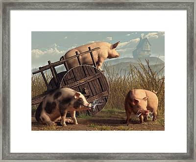 Bad Pigs Framed Print by Daniel Eskridge