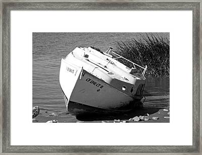 Bad Sail Day Framed Print