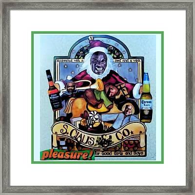Framed Print featuring the digital art Bad Santa by Lisa Piper