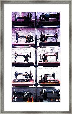 Bad Seamstress Blues Framed Print by Mike Greco
