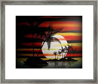Bad Sunfire Framed Print