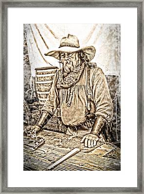 Bad Times Pilgrim Gotta Be Ready Framed Print by Randall Branham