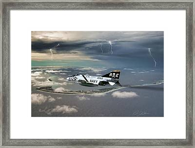 Bad To The Bones Framed Print by Peter Chilelli
