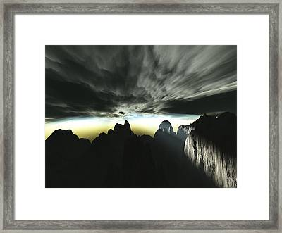Bad Weather Coming Framed Print
