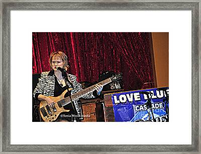 Framed Print featuring the photograph Badass Blues Bassist Lisa Mann by Tonia Noelle