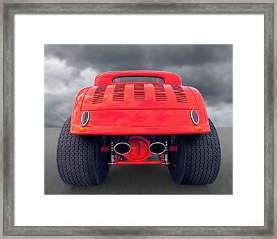 Badass Hotrod Framed Print by Gill Billington