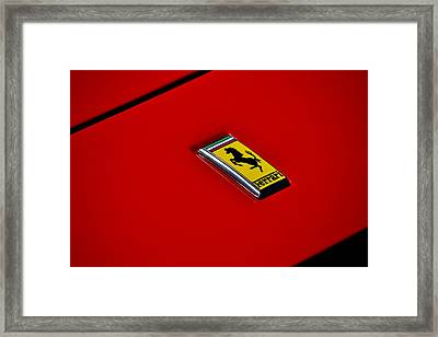 Framed Print featuring the photograph Badge In Red by Dean Ferreira