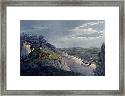 Badger Catching, 1820 Framed Print by Henry Thomas Alken