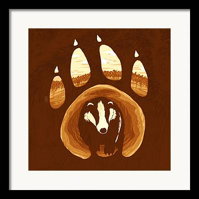 Badgers Framed Prints