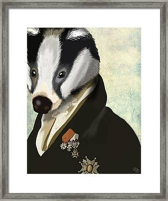 Badger The Hero Framed Print by Kelly McLaughlan