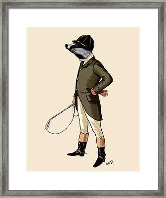 Badger The Rider Full Framed Print by Kelly McLaughlan