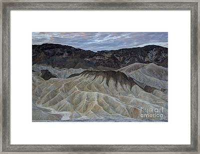 Badlands At Sunrise. Death Valley Framed Print