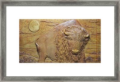 Badlands Bull Framed Print by Jeremiah Welsh