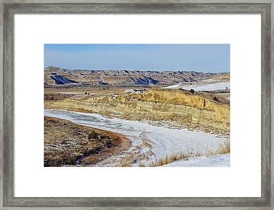 Badlands Frozen Framed Print