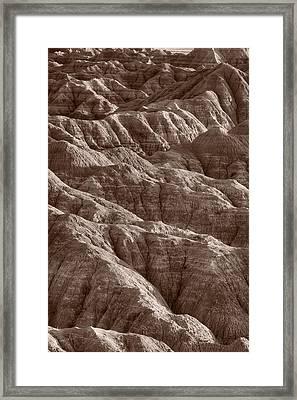 Badlands Light Bw Framed Print by Steve Gadomski