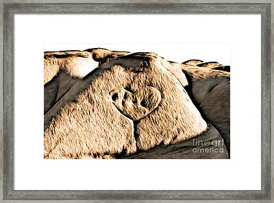Badlands Love Framed Print