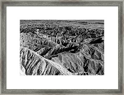 Framed Print featuring the photograph Badlands Of Great American Southwest - 2 by Photography  By Sai