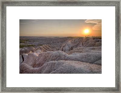 Badlands Overlook Sunset Framed Print by Adam Romanowicz