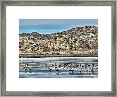 Badlands Spring Thaw Framed Print by Aliceann Carlton