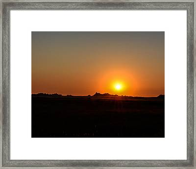 Badlands Sunrise Framed Print by Robin Williams