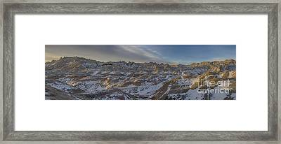 Badlands Sunrise Framed Print