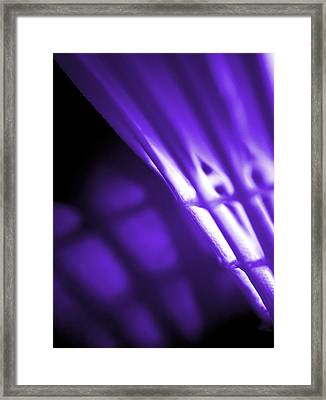 Badminton Shuttlecock Abstact - Purple Framed Print