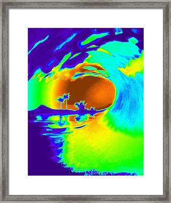 Badpurpwave Framed Print