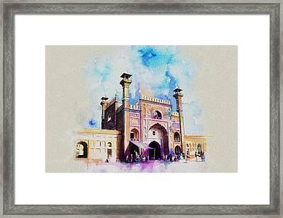 Badshahi Mosque Gate Framed Print by Catf