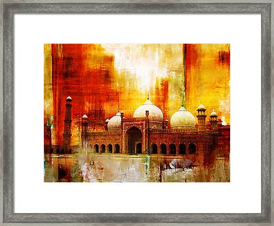 Badshahi Mosque Or The Royal Mosque Framed Print