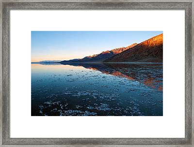 Badwater Glow Framed Print