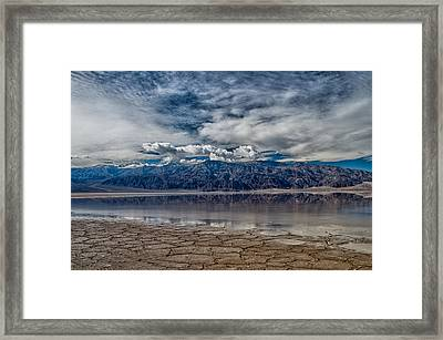 Badwater Reflection Framed Print by Cat Connor