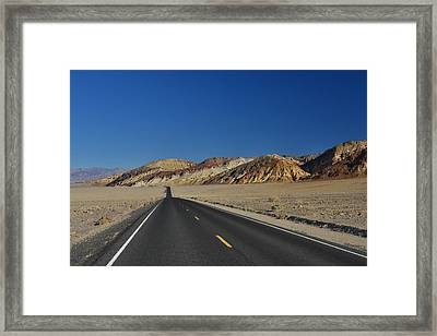 Framed Print featuring the photograph Badwater Road - Death Valley by Dana Sohr