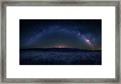 Badwater Under The Night Sky Framed Print