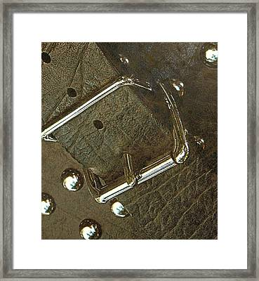 Bag And Buckle Framed Print