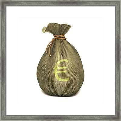 Bag With Euro Sign Framed Print