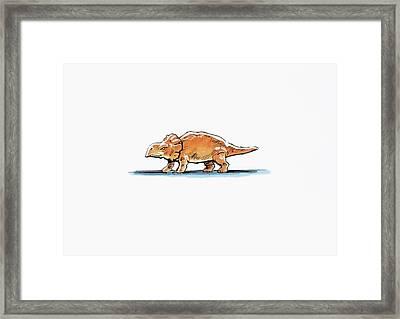 Bagaceratops Dinosaur Framed Print