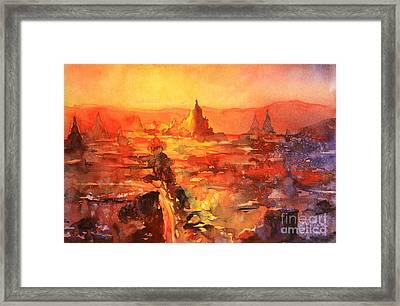 Bagan Ruins Framed Print by Ryan Fox