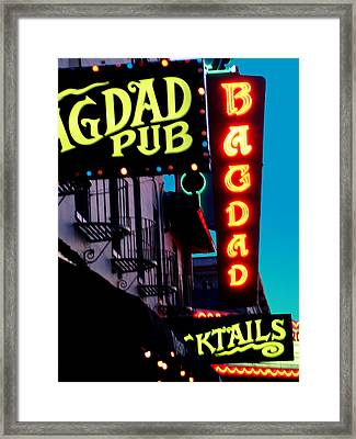 Bagdad Pub Framed Print by Gail Lawnicki