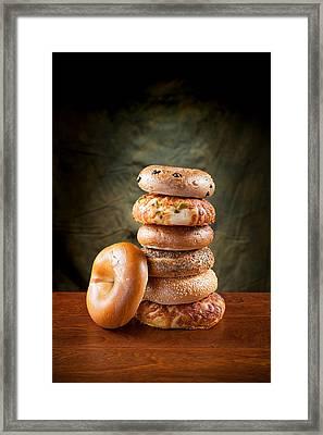 Bagels Framed Print by Joe Belanger
