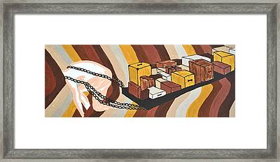 Framed Print featuring the painting Baggage by Erika Chamberlin