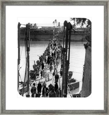 Baghdad Katah Bridge, 1932 Framed Print