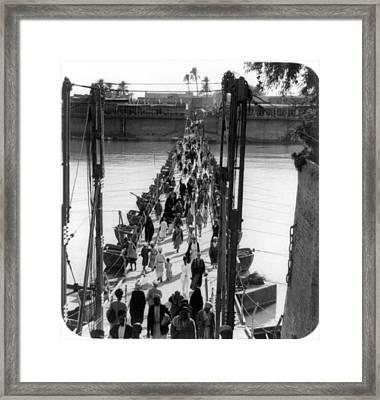Baghdad Katah Bridge, 1932 Framed Print
