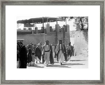 Baghdad Steet Scene Framed Print by Underwood Archives